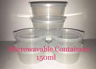 Microwavable Containers 150ml (50pcs/pk)