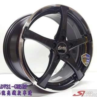 18吋鋁圈 8J 雅泛迪品牌鋁圈 Enkei同工廠 四款現貨 搭配215/45/18普利司通 T001輪胎 成本裝完工價