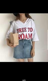Shirt Tops Show Slim Shirts Loose T-Shirt Fashion Short Sleeve