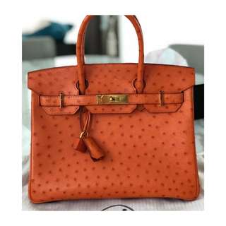 Authentic Hermes Birkin 30 Ostrich