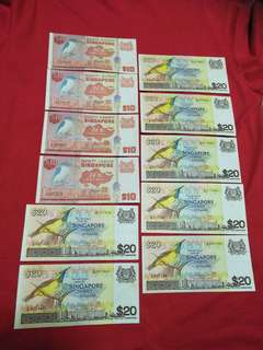 Old sg  notes 11pcs offer $238