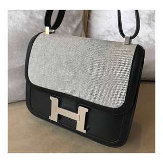 Authentic Hermes C24 Toile