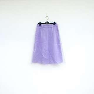 二手 粉紫 珠光紗 長裙 明太子 628
