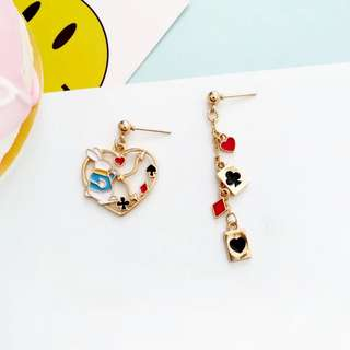 (RS) Alice in the wonderland Earrings