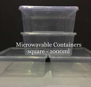 Microwavable Containers 1000ml (5pcs/pk)