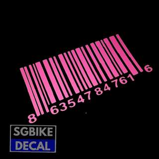 Pink Barcode Decal