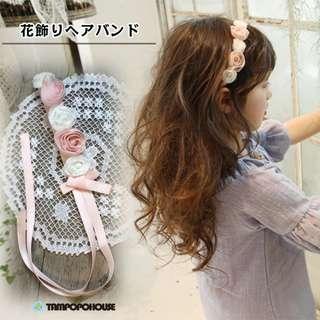 🚚 🌟INSTOCK🌟 Sweet Pastel Floral Headband Newborn Baby Bandana Kids Girl Party Hair Accessories