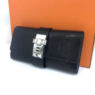 Authentic Hermes Medor Clutch Lizard