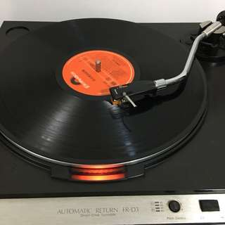 Sansui direct drive turntable fr-d3 (cover hinge loose)