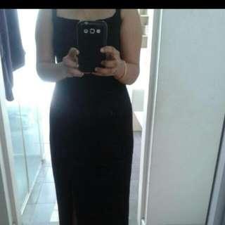 Elegant Long Black Dress