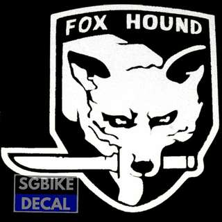 White Fox Hound Reflective decal