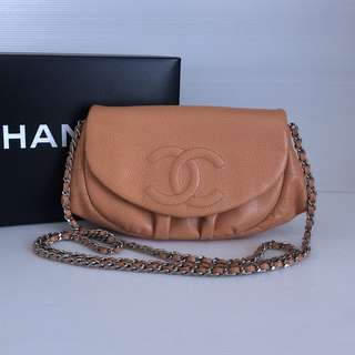 Authentic Chanel Half Moon Bag