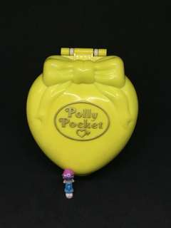 Vintage polly pocket for sale yellow compact