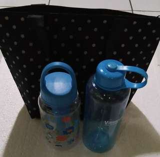 Cold water bottle and Bag