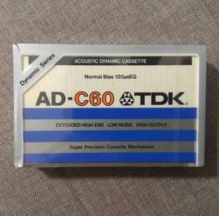 arthcs TDK AD-60 Blank Cassette Tape (Brand New Sealed)