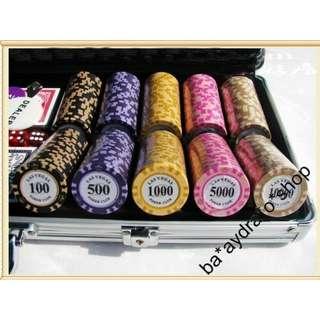 1630046 14克(歐.美.日.元) 鋁盒 籌碼 套裝 德州撲克籌碼 100/300/500 Aluminum box