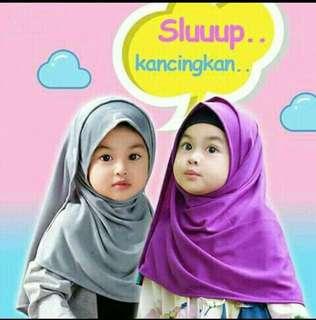 Jilbab pashmina instan anak