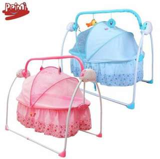 Primi Baby Electric Rocker with Mosquito Net Rechargeable