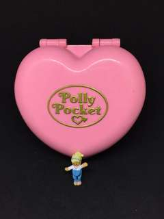 Vintage polly pocket for sale pink heart