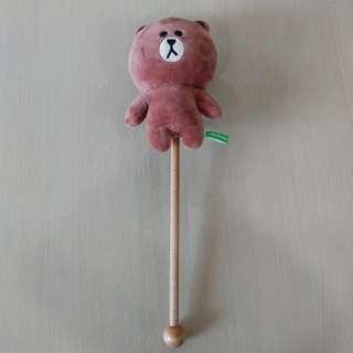 🚚 LINE Friends Character Brown Plush Doll Massage Stick