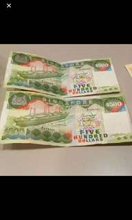 $500 old singapore note (RARE)