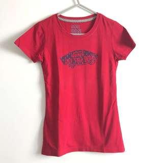 Red Pattern Vans Shirt