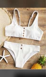 White bikini set swim