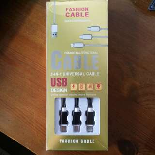 Brand new 3in1 phonecharger and data cable