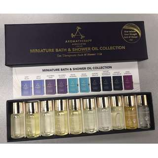 100%全新現貨AROMATHERAPY ASSOCIATES LONDON 迷你沐浴油系列10支套裝 3ml x 10
