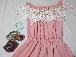💙[S-M] Pink dress