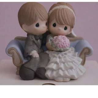 PRECIOUS MOMENTS FIGURINE2012 結婚公仔擺設