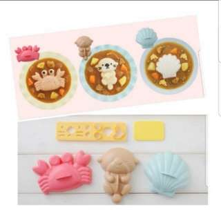 3 in 1 Otter/Crab/Seashell Rice Mould Set