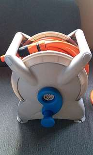 Garden hose reel with 15M hose
