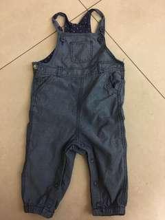 🚚 H&M吊帶褲4-6m