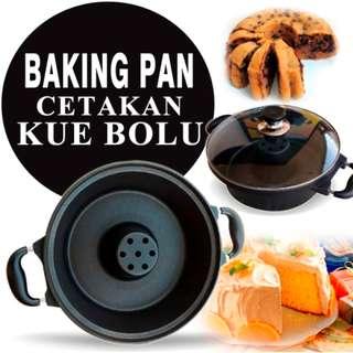 Baking Pan Teflon Anti Lengket ›› Cetakan Kue Bolu Original - Hitam
