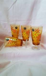 Vintage footed glasses