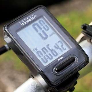 Black Cateye MTB Bike Riding Multifunctional LCD Backlight Velo Wireless Speedometer Black