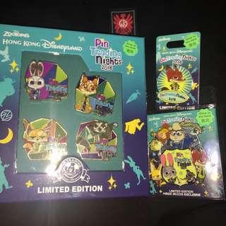 Pin Trading Nights 2018 Zootopia Fullset 迪士尼 徽章 Disney Pin