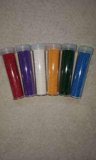 supplies - glitter tubes