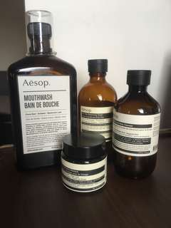 Aesop empty bottles