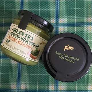 Feliz Greentea Almond Milk Spread from Korea (250g)