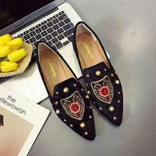 Flat Shoes Suede Wanita Cantik-SHF810