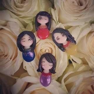 Pin polymer fimo cernit clay handmade girl