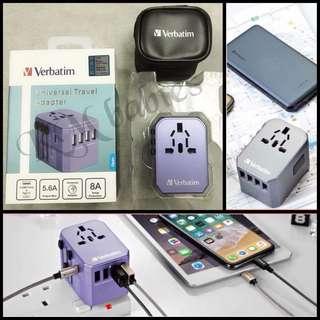 Verbatim 5 ports 旅行轉插充電器