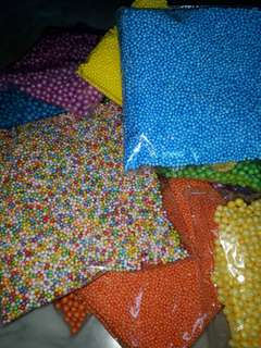 supplies - assorted foam beads