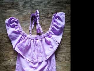 Lilac Off Shoulder Top