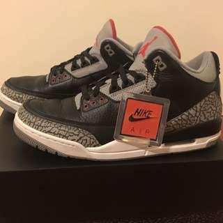 Jordan 3 Black Cement Size 11 (2018 release)