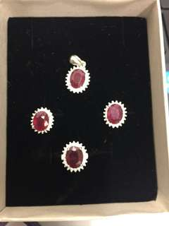 Natural Ruby jewelry set