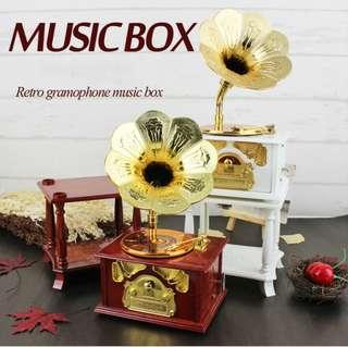 Classical retro horn gramophone music box home decoration ornaments creative birthday gift