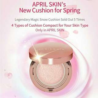 April skin magic snow pink cushion